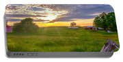 Gouveia Vineyard At Sunset  Portable Battery Charger