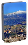 Granada, The Alhambra And Sierra Nevada From The Air Portable Battery Charger