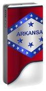 Grand Piano Arkansas Flag Portable Battery Charger