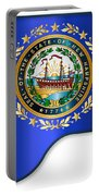 Grand Piano New Hampshire Flag Portable Battery Charger