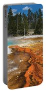 Grand Prismatic Spring Portable Battery Charger by Mae Wertz