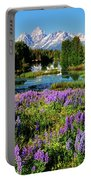 Grand Teton Lovely Lupines Portable Battery Charger by Greg Norrell