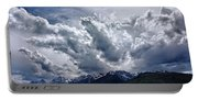 Grand Teton Mountains And Clouds Portable Battery Charger