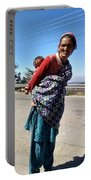 Grandchild And Grandmother Shimla Himachal Pradesh Portable Battery Charger