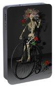 Grateful Penny Farthing Skeleton Portable Battery Charger