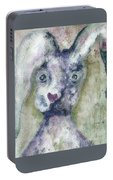 Gray Bunny Love Portable Battery Charger