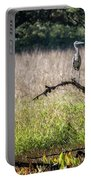 Great Blue Heron On A Snag Portable Battery Charger