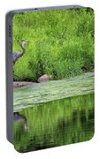 Great Blue Heron Square Portable Battery Charger