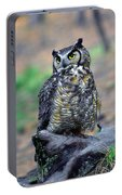 Great Horned Owl B. Virginianus Portable Battery Charger