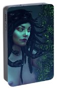 Green Eyed Medusa Portable Battery Charger