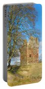 Greenknowe Tower In Late Winter Sun Scottish Borders Portable Battery Charger