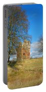 Greenknowe Tower In Winter Sun, Scottish Borders Portable Battery Charger