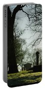Greyfriars Churchyard In Winters Sun Portable Battery Charger