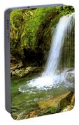 Grotto Falls On Trillium Gap Trail In Smoky Mountains National Park Portable Battery Charger