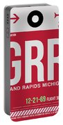 Grr Grand Rapids Luggage Tag II Portable Battery Charger