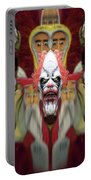 Halloween Scary Clown Heads Mirrored Portable Battery Charger