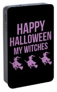 Halloween Shirt Happy Halloween Witches Gift Tee Portable Battery Charger