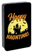 Halloween Shirt Happy Haunting Scary Tee Gift Portable Battery Charger