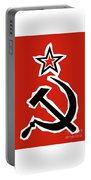Hammer And Sickle Grunge Portable Battery Charger