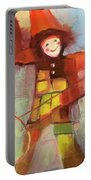 Happy Clown Portable Battery Charger by Michelle Abrams