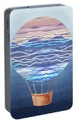 Happy Hot Air Balloon Watercolor Xxvi Portable Battery Charger