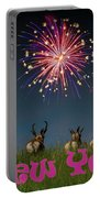 Happy New Year 2019 - Three Pronghorn Antelope Portable Battery Charger