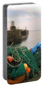 harbour pier and fishings nets at Pittenweem, Fife Portable Battery Charger