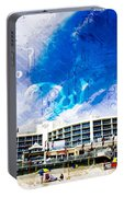 Hard Rock Beach Abstract Portable Battery Charger