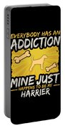 Harrier Funny Dog Addiction Portable Battery Charger