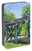Harrison Park Bridge-ellijay River - Sun Peeking Under Portable Battery Charger