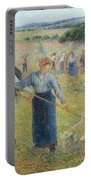 Haymaking At Eragny, 1891 Portable Battery Charger