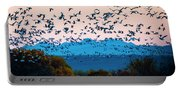 Herd Of Snow Geese In Flight, Soccoro Portable Battery Charger