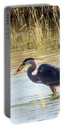 Heron Capturing A Fish Portable Battery Charger
