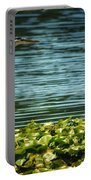 Heron In The Lily Pads Portable Battery Charger