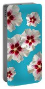 Hibiscus Flower Pattern Portable Battery Charger