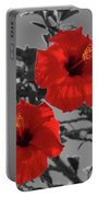 Hibiscus Selective Color Portable Battery Charger