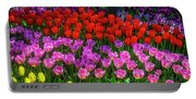 Hidden Garden Of Beautiful Tulips Portable Battery Charger