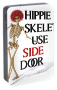 Hippie Skeletons Use Side Door Portable Battery Charger