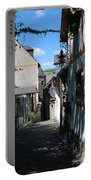 historic cobbled lane in Beilstein Germany Portable Battery Charger