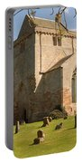 historic Crichton Church and graveyard in Scotland Portable Battery Charger