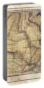 Historical Map Hand Painted Arkansaws Territory Portable Battery Charger