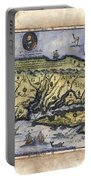 Historical Map Hand Painted Drake Virginia Portable Battery Charger