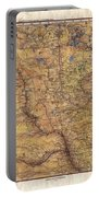 Historical Map Hand Painted Lake Superior North Dakota Minnesota Portable Battery Charger