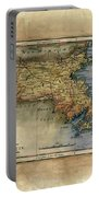Historical Map Hand Painted Massachussets Portable Battery Charger
