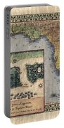 Historical Map Hand Painted St. Augustine Portable Battery Charger