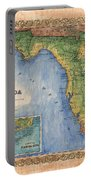Historical Map Hand Painted Vintage Florida Colton Portable Battery Charger