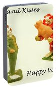 Hogs And Kisses Clown Valentines Portable Battery Charger