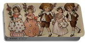 Hollyhocks, Victorian Card Portable Battery Charger