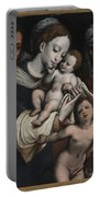 Holy Family With Elisabeth And John The Baptist  Portable Battery Charger