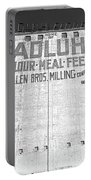 Home Of Adluh Flour Meal Feed Mill Columbia South Carolina Black And White Portable Battery Charger by Lisa Wooten